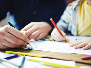 Mental Health Activities For Families - colouring and crafting